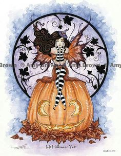 Fairy Art Artist Amy Brown: The Official Online Gallery. Fantasy Art, Faery Art, Dragons, and Magical Things Await. Amy Brown Fairies, Elves And Fairies, Illustration Fantasy, Dragons, Halloween Fairy, Purple Halloween, Halloween Witches, Happy Halloween, Kobold