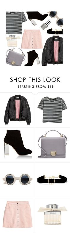 """""""Untitled #657"""" by alexa-anita2010 ❤ liked on Polyvore featuring WithChic, Charlotte Olympia, Smythson, Chanel, Anissa Kermiche, H&M, Chloé and RMK"""
