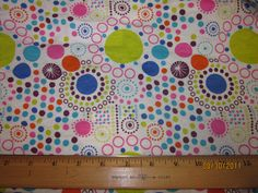 Mardi Gras Fun Polka Dots on Cotton Knit Fabric