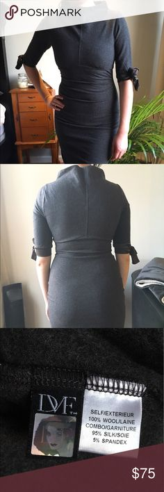 Selling this Diane Von Furstenberg Fitted Wool Dark Grey Dress on Poshmark! My username is: jungscloset. #shopmycloset #poshmark #fashion #shopping #style #forsale #Diane Von Furstenberg #Dresses & Skirts