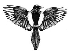 Image result for flying magpie tattoo