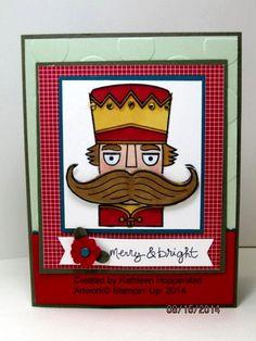 Stampin' Up! Santa Stache stamp set, Kathleenh-nuts for nutcracker
