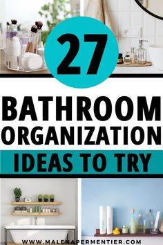 Struggling to fit everything in your bathroom? Me too!! This post shows you the tried and tested small bathroom organization ideas that actually work. Here you find smart shelf ideas, how to maximize the space under your bathroom sink, and the best fail-proof organizers you absolutely need in small bathrooms.