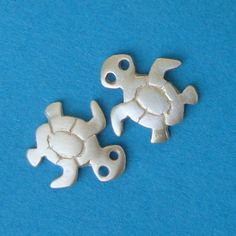 Sea Turtle Stud Earrings sterling silver Post Girl Woman Teen cute   gift mom Valentine for her. $30.00, via Etsy.