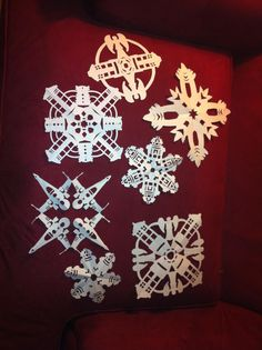 Star Wars and Doctor Who snowflakes