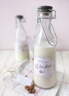 homemade almond or oat milk