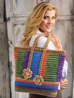 Browse 40 projects in Stress-Free Seamless Crochet: www. Browse 40 projects in Stress-Free Seamless Crochet: www. Mode Crochet, Crochet Tote, Crochet Handbags, Crochet Purses, Bead Crochet, Crochet Gifts, Crochet Simple, Easy Crochet Patterns, Crochet Stitches