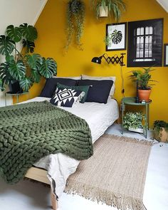 LIV for Interiros / 22 Homes that prove Gen Z Yellow is the New Millenial Pink t. LIV for Interiros / 22 Homes that prove Gen Z Yellow is the New Millenial Pink thank you for visit thie boards Mustard Yellow Bedrooms, Bedroom Yellow, Mustard Bedroom, Pink Bedrooms, Yellow Rooms, Mustard Yellow Decor, Mustard Yellow Walls, Bedroom Colours, Bedroom Colour Scheme Ideas