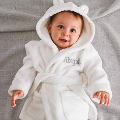 40f35eac personalised ivory hooded fleece robe by my 1st years |  notonthehighstreet.com Baby Boy Nurseries
