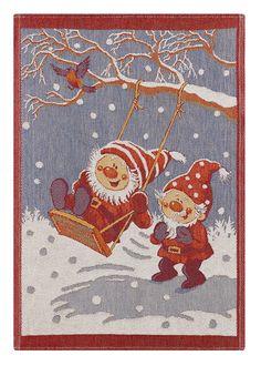 Ekelund Christmas Towel - Gungan / at designsofsweden.com Swedish Kitchen, Christmas Towels, Tea Towels, Scandinavian, Xmas, Kids Rugs, Happy, Painting, Home Decor