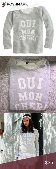 "👩🎨J. Crew ""Oui Mon Cheri"" Sweater👩🎨 Translates to: ""yes, my dear"" J. Crew Sweaters Crew & Scoop Necks"