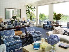 Preppy Living Room in Beverly Hills, CA by Kirsten Kelli, LLC