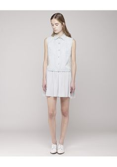 Thakoon Addition / Vested Dress 100% tencel lyocell from the runways. eco friendly and sustainable!