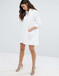 Misguided Robe chemise blanche