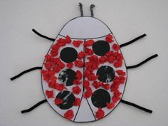 Making a RED Lady Bug (free printable)