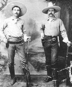 Texas Rangers George Black and J.M. Britton