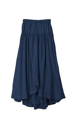 Long Wrap around Skirts | Buy Blue Cotton Printed Wrap Around Long ...