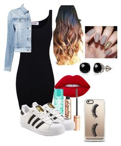 """going out outfit ✌️❤️"" by lissetzepeda on Polyvore featuring Lime Crime, Charlotte Tilbury, adidas Originals, 3x1, Casetify and Belk & Co."