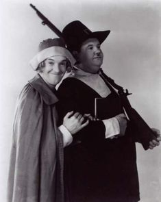 Laurel and Hardy this is very amuseing. there is one episode where they each play the others wife. very very funny.
