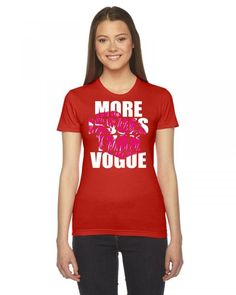 more issues than vogue 1 Ladies Fitted T-Shirt