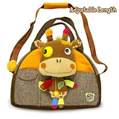 Eco Snoopers - Loop De Loop Giraffe Plush Duffel Bag .99 Educational, good for the planet and sturdy, the duffel bag can live up to whatever your kids can dish out.
