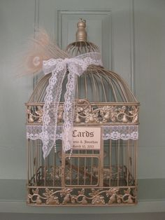 Vintage Style Champagne Bird Cage Wedding by SouthburyTreasures, $58.00