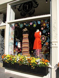 Town House Shops Window Displays