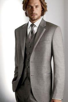 2015 New arrivals Custom Made dark gray Groom Tuxedo/Wedding Suits For Men 3 pieces Suits ( jacket+Pants+vest+tie) Grey Tuxedo, Tuxedo Suit, Tuxedo For Men, Gray Tux, Tuxedo Dress, Tuxedo Jacket, Gray Jacket, Tuxedo Wedding, Wedding Men