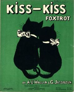 "Vintage sheet music: ""Kiss-Kiss (Foxtrot)"" by A.U. Wallin & G. Jacobzon (1922)"