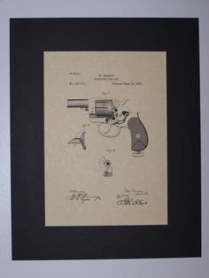 Mason Revolving Firearm 1881 Patent drawing HistoricPatentArt.com Gun