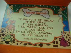 Pebles Picapiedra Invitacion