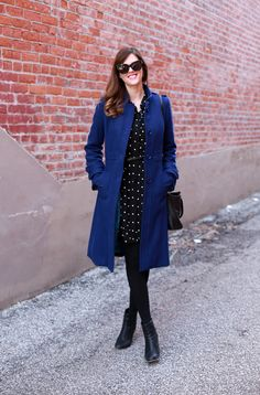 What I Wore | Cobalt Part II, @Jess Liu Quirk | What I Wore, blue coat