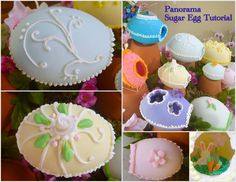 I've been making these sugar eggs since I was a kid… in fact, I still have one that I made back then! It's a bit faded, and my kitties licked off the frosting in a couple spots, but I've ke… Panoramic Sugar Easter Eggs, Sugar Eggs For Easter, Cake Decorating Shop, Holiday Decorating, Liquid Food Coloring, Royal Icing Decorations, Spring Decorations, Egg Crafts, Easter Traditions
