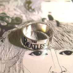 Ring  The Beatles  Sterling Silver 925 by MineOverMatter on Etsy, $69.00