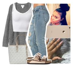"""""""Luhh This """" by naebreezy ❤ liked on Polyvore featuring Monki, Michael Kors and Birkenstock"""