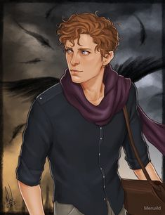 "cocotingo: ""Wylan Van Eck from Six of Crows. I can't wait to read Crooked Kingdom to learn more about this precious young man. With satchel! Funeral, Book Characters, Fantasy Characters, Drawing Training, Fanart, Mythos Academy, Character Inspiration, Character Art, Writing Inspiration"