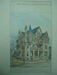 Residence of Dr. L. C. Warner , New York, NY, 1884, A. B. Jennings