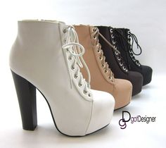 NEW Womens Fashion Shoes Ankle Boots High Heels Platforms Pumps Sexy Lace Up
