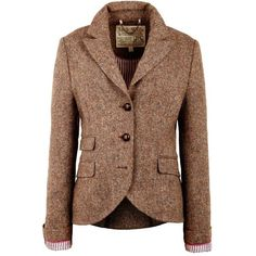 Jack Wills Austerberry Blazer (680 RON) ❤ liked on Polyvore featuring outerwear, jackets, blazers, coats, jack wills, brown blazer, checkered jacket, wool jacket et checkered blazer
