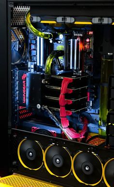 Colorful gaming pc rig