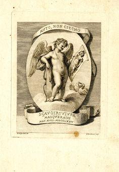 Ticket for a masquerade, by Bartolozzi, 1775