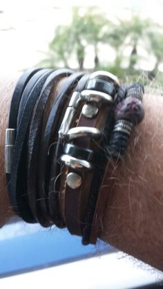 Stylish Leather Bracelet #bracelet #style #kysa