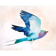 """Mai Autumn Lilac Roller by Christine Lindstrom Framed Painting Print Size: 11"""" H x 14"""" W"""