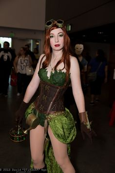 This is what #cosplay is about, an awesome #steampunk'd Poison Ivy by @StrangeLikeThat.