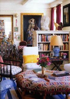 Habitually Chic® » Oscar's New Creative Director of Home. Book case profile.