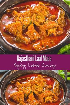 Rajasthani Laal Maas is a traditional Rajasthani Mutton dish which is fiery hot and deep red in color. It is best enjoyed with Indian breads or rice. Here is a video recipe of how to make Laal Mass recipe in traditional Rajasthani style. Indian Chicken Recipes, Veg Recipes, Spicy Recipes, Indian Food Recipes, Appetizer Recipes, Cooking Recipes, Vegetarian Recipes, Ethiopian Food Recipes, Indian Mutton Recipes