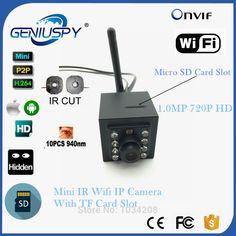 52.53$  Watch here - http://aliays.shopchina.info/go.php?t=32799297915 - 1MP 720P Indoor 940nm Invisable IR Leds Wifi Wireless Ip Camera Sd Card Video Surviallance P2P Onvif HD Mini IP Cam WIFI IR-CUT  #buyininternet