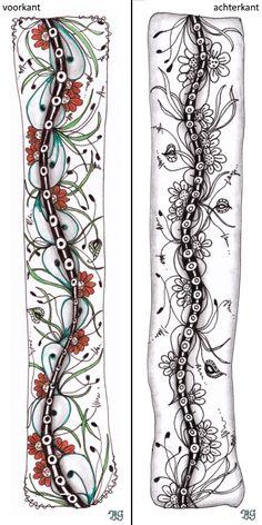 bladwijzer 5 Zentangle, Bookmarks, Wordpress, Tattoos, Tatuajes, Zentangle Patterns, Marque Page, Tattoo, Zentangles