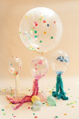 Confetti Filled Balloons at Pretty Little Party Shop UK