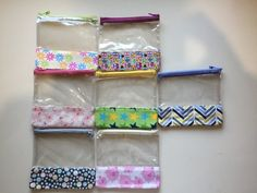 Items similar to Small Vinyl Zippered Pouch In Stock, Ready to Ship on Etsy Tag Blanket, Mini Craft, What's In Your Bag, Cute Little Things, Top Stitching, Zipper Pouch, Fabric Patterns, Sewing Projects, Applique